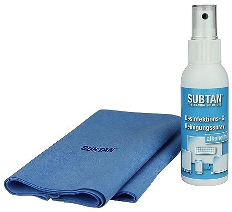 SUBTAN - Kit de desinfección y limpieza para smartphone, tablet, pantalla táctil, teclado y ratón (aerosol desinfectante ...