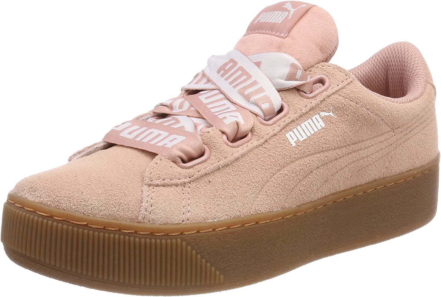 PUMA Women's Vikky Platform Ribbon Bold Low-Top Sneakers