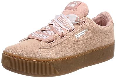 puma vikky platform sneaker beige