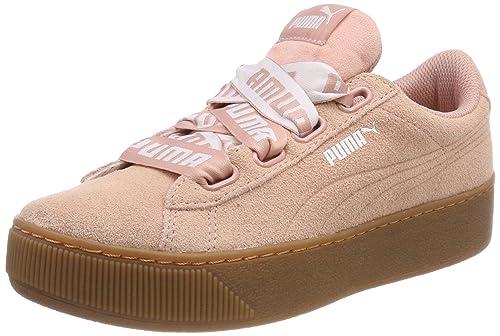Puma Vikky Platform Ribbon Bold, Zapatillas para Mujer, Beige (Peach Beige-Peach Beige), 36 EU