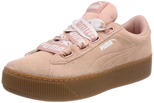 Amazon.com | PUMA Womens Vikky Platform Ribbon Bold Low-Top Sneakers | Fashion Sneakers