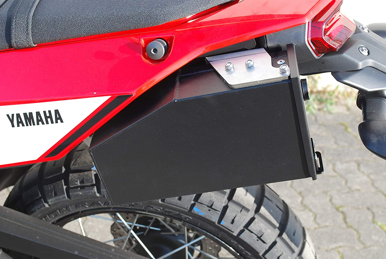 Mytech Tool Case Tool Box Made Of Aluminium Painted Black Left For Tènèrè 700 Auto