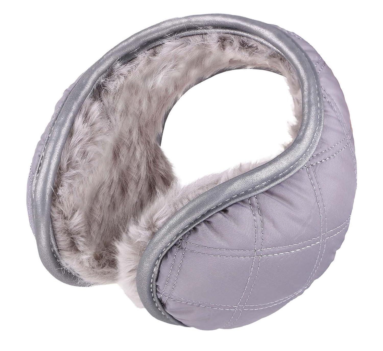 Men & Women's Fleece Lined Compact Winter Earmuffs Black