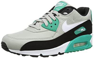 new style e063f d6f4e Nike Air Max 90 Leather, Running Entrainement Homme - Multicolore  (Granite White