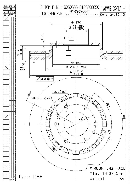 Magneti Marelli by Mopar 1AMVR10237 Disc Brake Rotor