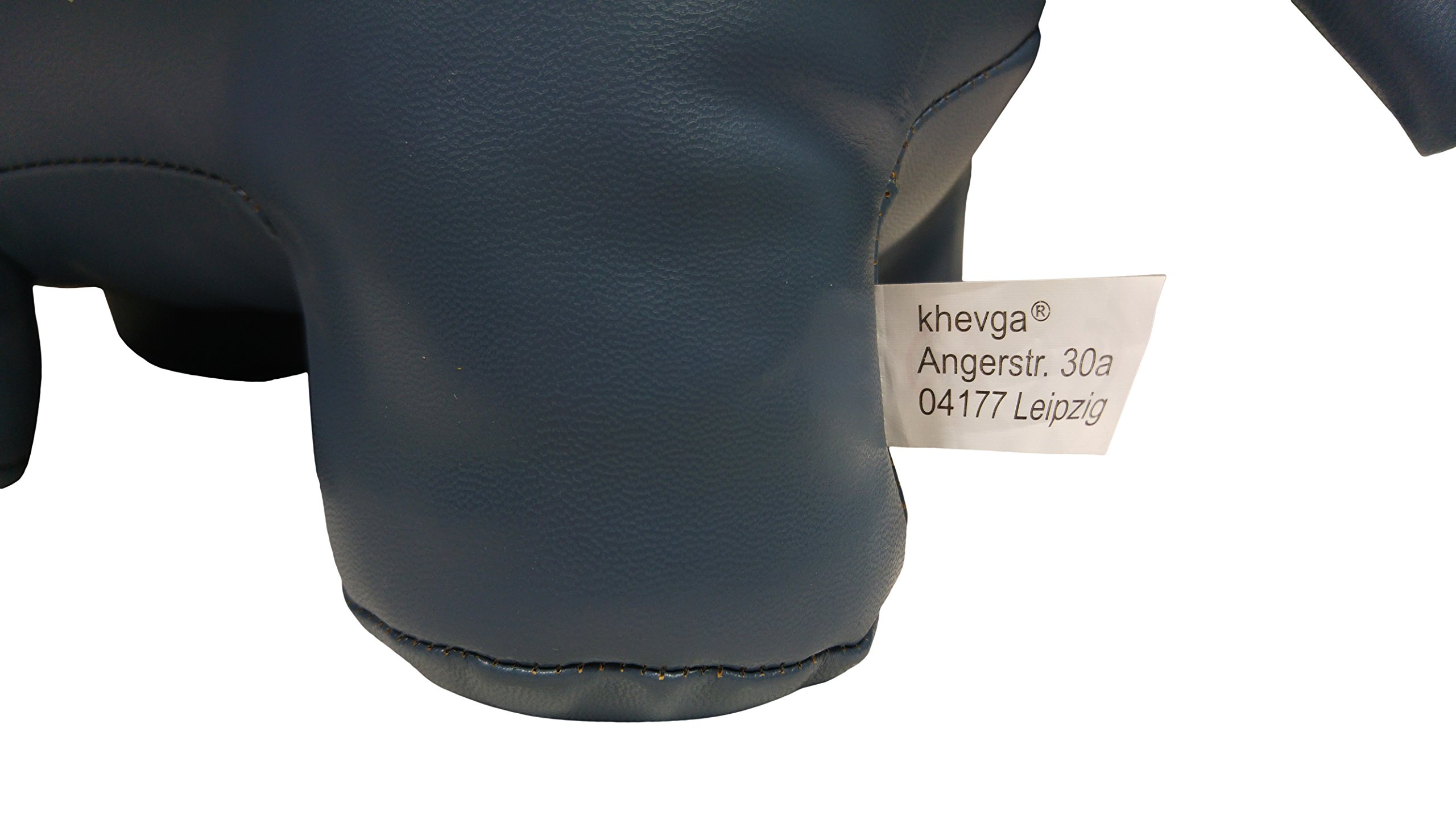 khevga Leather Optic Elephant Gray White Animal Door Stopper by khevga (Image #5)