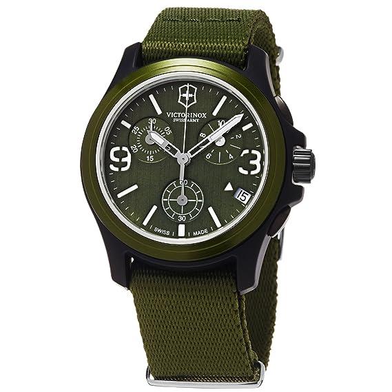Relojes Unisex VICTORINOX ORIGINAL CHRONO VERDE CORREA LONETA V241531