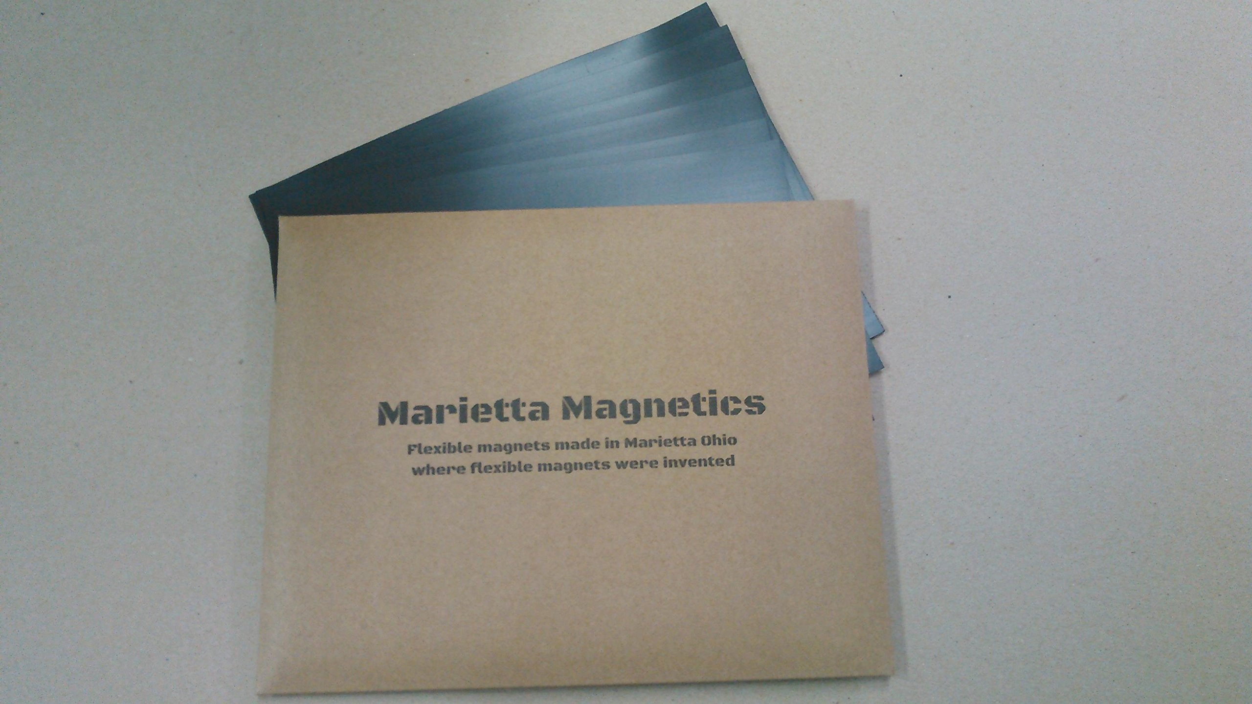 Marietta Magnetics - 10 Magnetic Sheets of 8.5'' x 11'' Adhesive (30 mil) Create your own Magnet! Flexible Peel & Stick Self Adhesive for Photos Crafts Stamp Dies Signs & More by Marietta Magnetics