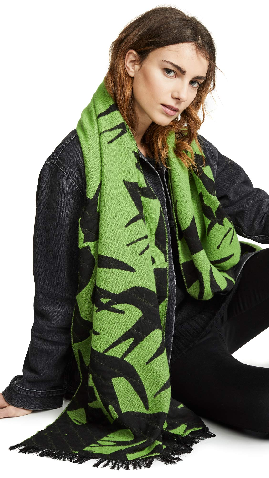 McQ - Alexander McQueen Women's Swallow Cut Up Scarf, Slime Green, One Size