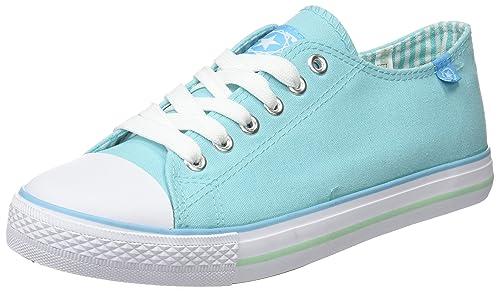 Beppi Canvas Shoe, Zapatillas de Deporte para Mujer, Azul (Turq. Blue), 39 EU