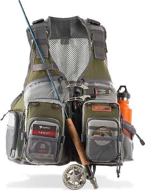 RONGJJTJQ Fishing Vest Pocket Fishing Weste Fly Fishing Vest Gro/ße S-7Xl Herren S Sommer Outdoor Fishing Mesh Weste Jacke Man Jungle Tactical Multi Pockets Reisefotografie Weste-Gr/ün/_4XL