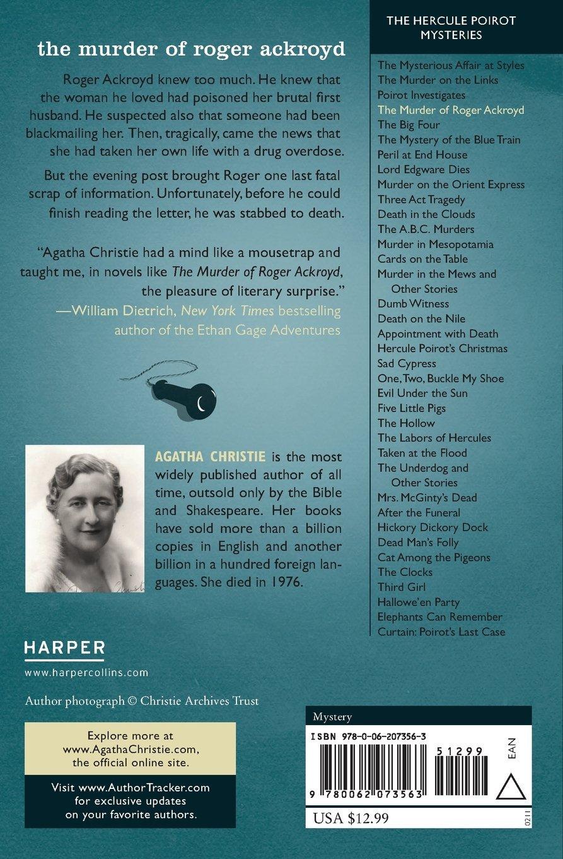 Amazon.com: The Murder of Roger Ackroyd: A Hercule Poirot Mystery ...