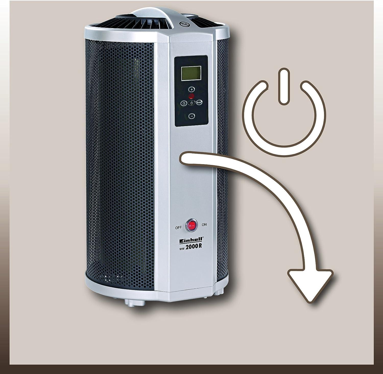 Radiador por radiaci/ón Einhell WW 2000 D 2000 W, 2 niveles de calor, termostato