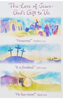 The Love Of Jesus   Godu0027s Gift To Us   Religious Happy Easter Greeting Card