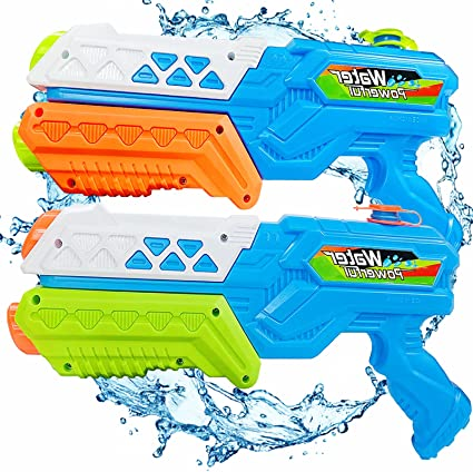 Water Guns for Kids and Adults 2 Pack Squirt Guns Water Blasters Toys Gifts for Boys Girls Swimming Pool Beach Water Fighting,Safty /& Easy to Operate