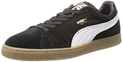 9a4f7571ae5 Amazon.com | PUMA Suede Classic Leather Formstrip Sneaker, Black ...