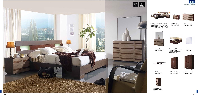Amazon.com: ESF 112 Contemporary Dark Brown Wood Finish ...