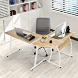 GreenForest Office Desk L-Shape Corner Computer PC Table Workstation 3-Piece for Home,Switch 2 Sides,Oak