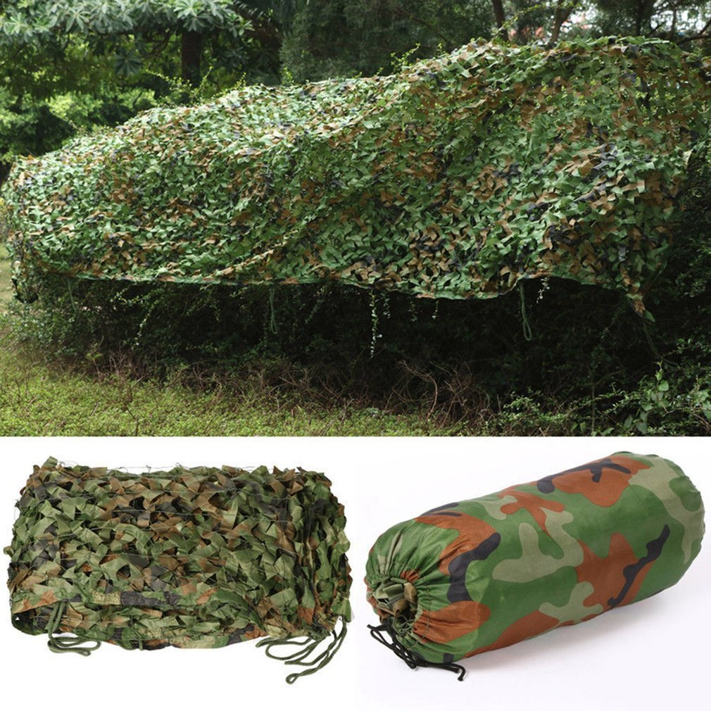 Graspwind Woodland Camouflage Netting Camo Net for Hunting Camping Shooting Military Themed Party Decoration-Camo Net Blinds Great for Sunshade (10x13ft)