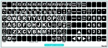 Pegatinas de repuesto para letras grandes, no transparentes ...