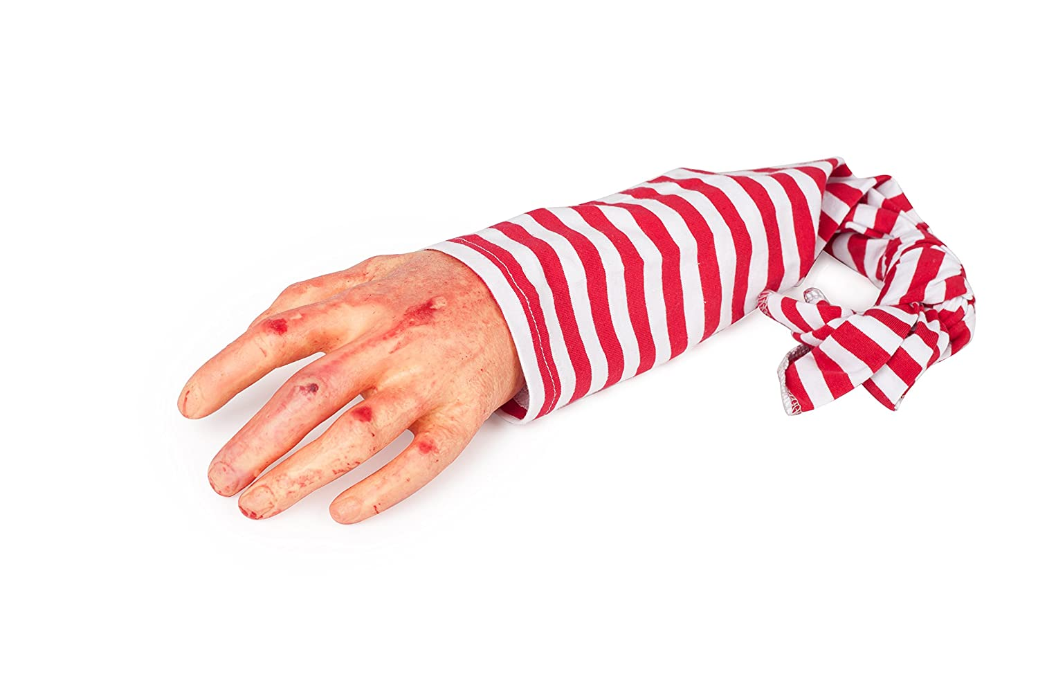 SummitLink Halloween Realistic Fake Hand with Cloth Arm for Car Trunk Dead Body Prank Decoration Prop Novelty Gift Toy