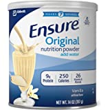 Ensure Original Nutrition Powder with 9g of Protein Per Serving, One Month Supply, Vanilla (Pack of 6)