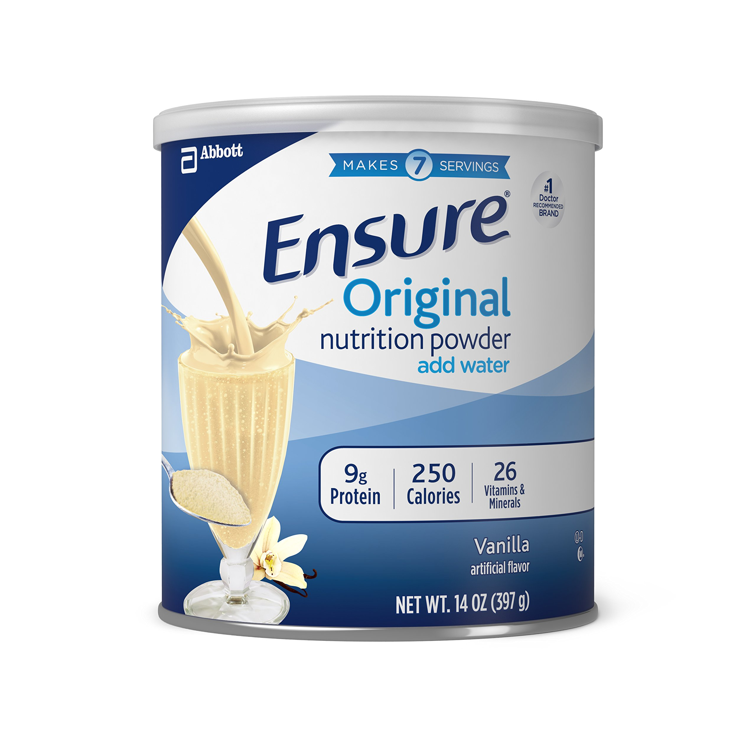 Ensure Original Nutrition Powder with 9 grams of protein, Meal Replacement, Vanilla, 14 oz, 6 count by Ensure (Image #1)