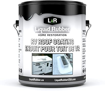 Amazon Com Liquid Rubber Rv Roof Coating Solar Reflective Sealant Waterproof Easy To Apply Brilliant White 1 Gallon Home Improvement