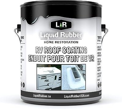 Amazon Com Liquid Rubber Rv Roof Coating Solar Reflective Sealant Waterproof Easy To Apply Brilliant White 1 Gallon Home Improvement