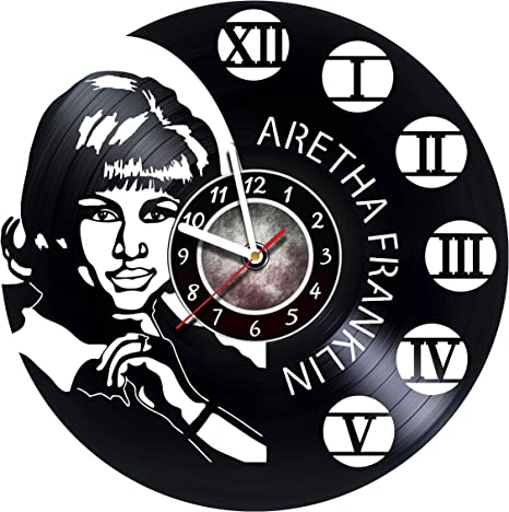 Amazon Com Amararoom Aretha Franklin Wall Clock Made Of Vinyl Record Original Decor Unique Design Incredible Gift Idea For Christmas Birthday Anniversary Women Men Boyfriend Girlfriend Teens Friends Home Kitchen