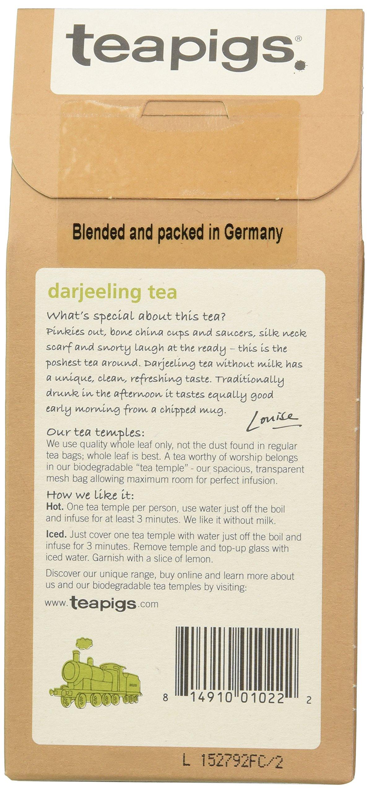 teapigs Darjeeling Tea, 15 Count (Pack of 6)