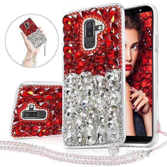 sale retailer 1cf17 9da45 Amazon.com: Samsung Galaxy J8 2018 Case Girl Women, Glitter Cute ...