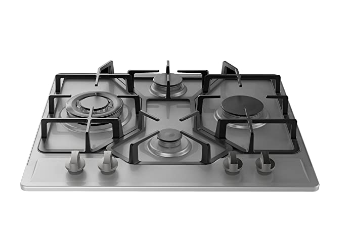 "Empava 24"" Stainless Steel Built-in 4 Burners Stove Gas Fixed Cooktop EMPV-24GC4B67A"