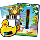 Pack of 'Happy Family' Jungle Animals Nursery and Room Thermometer, Duck Bath Thermometer and Monkey Forehead Thermometer for Baby/Child