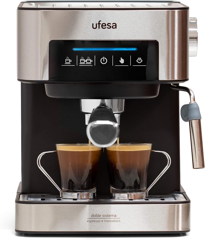 Ufesa CE7240-Cafetera Espresso, 850W, Depósito extraíble de 1,6 l ...