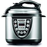 Panela de Pressão Elétrica Mondial, Pratic Cook 4L Premium, 220V, Preto/Prata, 800W - PE-09