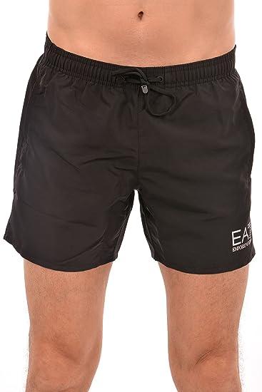 e0d447c104 EA7 Emporio Armani Sea World Swim Shorts In Black: Amazon.co.uk: Clothing