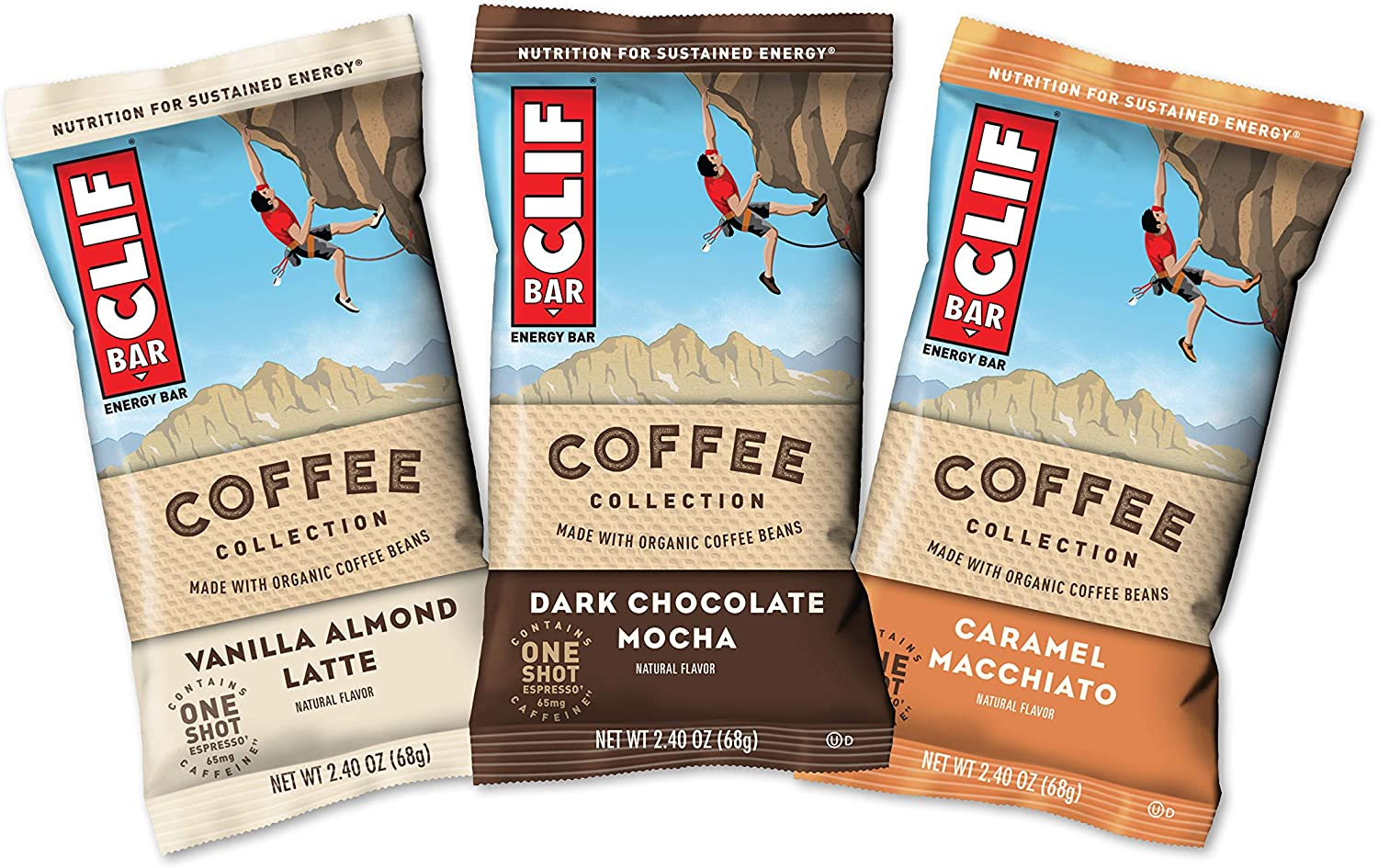 CLIF Bar - Energy Bars - Coffee Collection - Variety Pack - (2.4 Ounce Breakfast Bars, 15 Count)