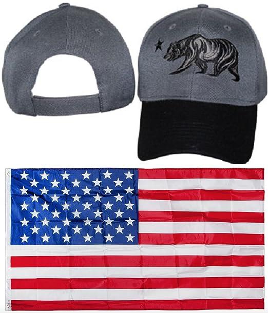 California República oso negro y gris Gris camuflaje gorro de ...