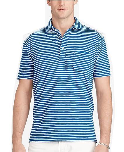 447b38b0fe4 Polo Ralph Lauren Men's Striped Jersey Popover Polo Shirt at Amazon Men's  Clothing store: