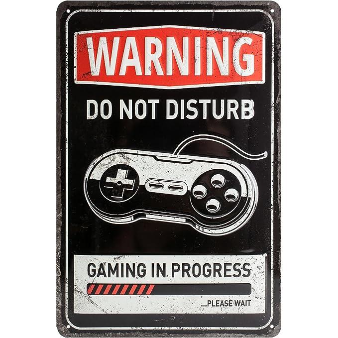 Amazon.com: Nostalgic-Art 22264 Achtung Gaming in Progress ...