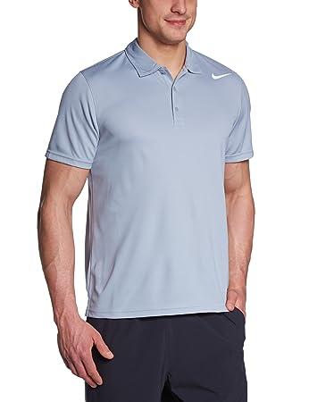 a5ae6d52 Nike N.E.T. Classic Polo Men's Polo Shirt stadium grey/white Size:L ...