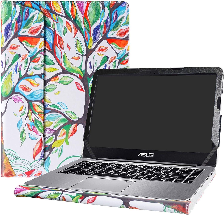 "Alapmk Protective Case Cover for 14"" ASUS VivoBook 14 E403NA E403SA E402SA E402WA F402BA/EeeBook L402SA L402WA Series Laptop(Warning:Not fit VivoBook F441 X442UN X441/ASUS E406SA),Love Tree"