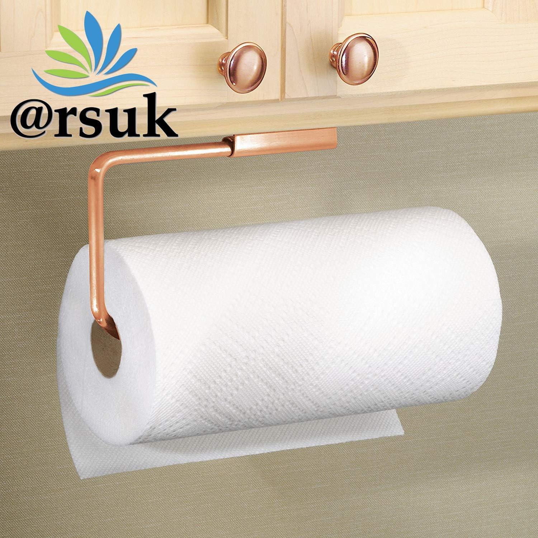 Mattschwarz K/üchentuchhalter /& St/änder ARSUK Handtuchhalter zur Wandmontage Rack passt in einen Schrank oder unter EIN Metallgeh/äuse Geschirrtuchhalter