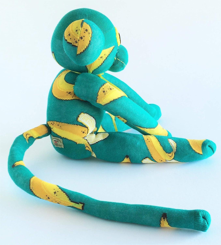 Yellow Sock Monkey Banana Sock Monkey Teal Sock Monkey Sock Monkey Green Sock Monkey Emerald Plush Banana Plush Banana