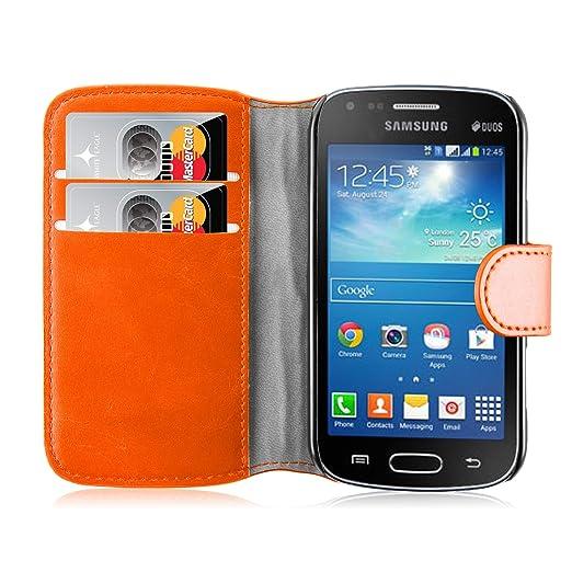 205 opinioni per Cover Galaxy Trend Plus, JAMMYLIZARD Custodia Retro Wallet a Libro in Pelle per