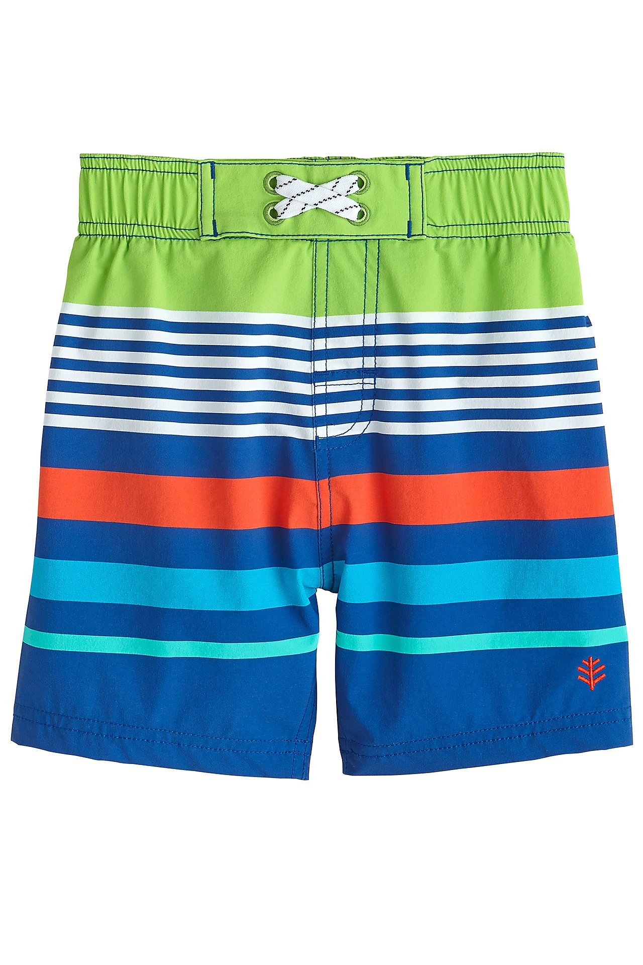 40aa4d6025 Galleon - Coolibar UPF 50+ Baby Boys' Island Swim Trunks - Sun Protective (6 -12 Months- High Tide Stripe)