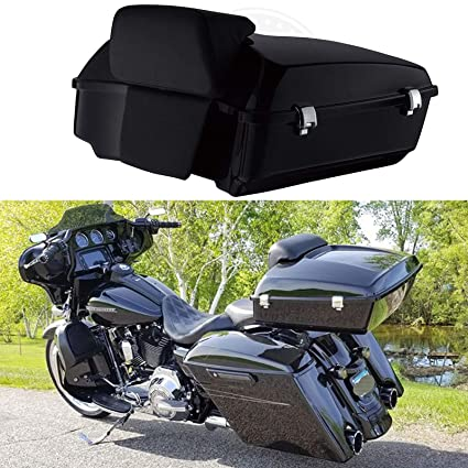Free Shipping Tour Pak Pack Trunk W/ Pad For Harley Touring Road King Electra Glide 1997-2013 Motorcycle Accessories & Parts Bags & Luggage