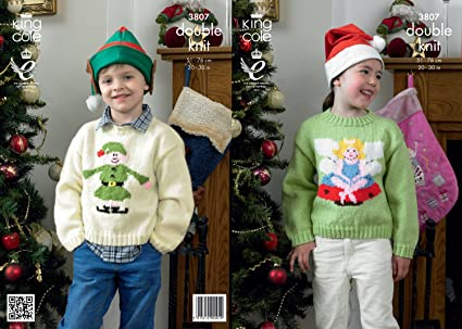 Amazon King Cole Dk Knitting Pattern 3807 Christmas Sweaters