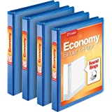 Cardinal Economy 3 Ring Binder, 1 Inch, Presentation View, Blue, Holds 225 Sheets, Nonstick, PVC Free, 4 Pack of Binders (795